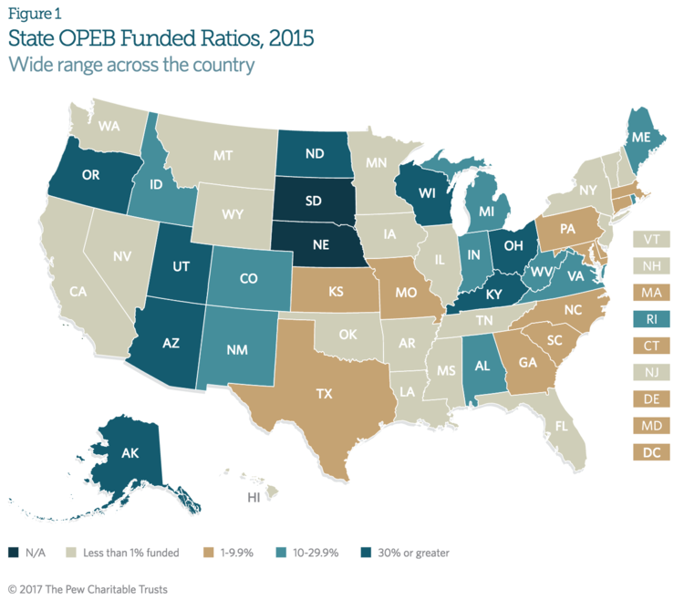 State OPEB Funded Ratios, 2015